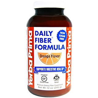 Yerba Prima, Daily Fiber Formula, Orange Flavor, 12 oz (340 g)