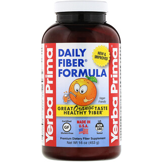 Yerba Prima, Daily Fiber Formula, Orange , 16 oz (453 g)