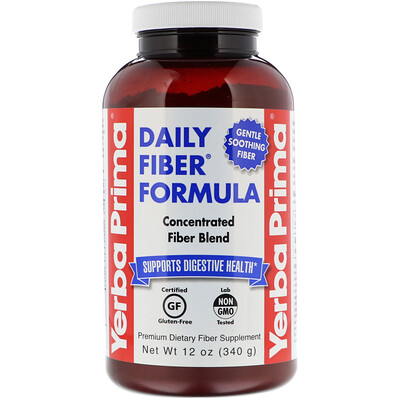 Купить Yerba Prima Формула с клетчаткой для ежедневного употребления, 12 унций (340 г)