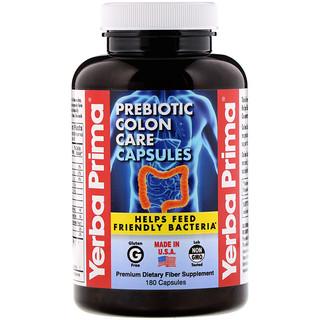 Yerba Prima, Prebiotic Colon Care, 180 Capsules