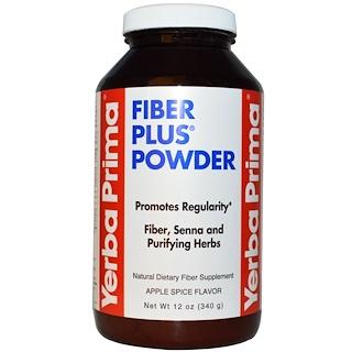 Yerba Prima, Fiber Plus Senna Powder, Apple Spice Flavor, 12 oz (340 g)