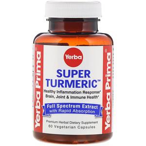Yerba Prima, Super Turmeric, 60 Vegetarian Capsules'