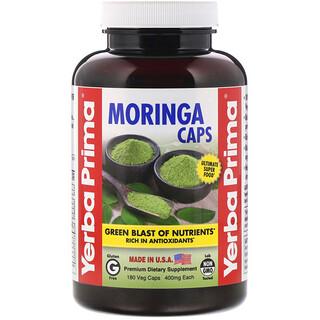 Yerba Prima, أقراص مورينجا، 400 مجم، 180 كبسولة نباتية