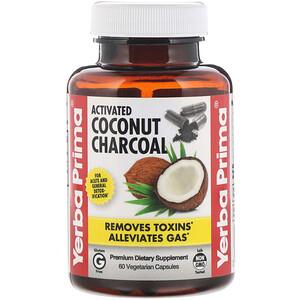 Ерба Прима, Activated Coconut Charcoal, 60 Vegetarian Capsules отзывы