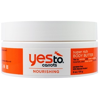 Yes to, Nourishing, Super Rich Body Butter, Carrots, 6 oz (170 g)