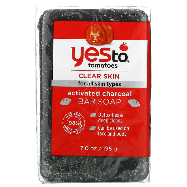 Tomatoes, Activated Charcoal Bar Soap, 7 oz (195 g)