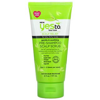 Yes to, Pre-Shampoo Scalp Scrub, Tea Tree, 6 fl oz (177 ml)