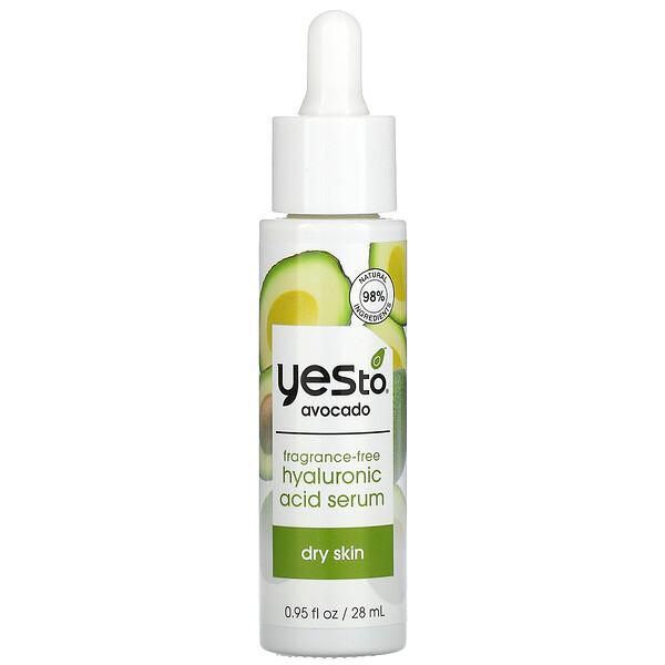 Hyaluronic Acid Serum, Avocado, Fragrance Free, 0.95 fl oz (28 ml)