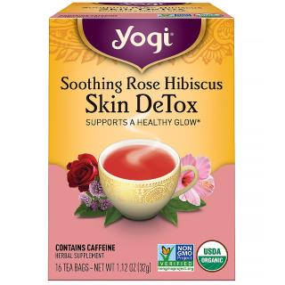 Yogi Tea, Soothing Rose Hibiscus Skin DeTox Tea, 16 Tea Bags, 1.12 oz (32 g)