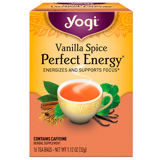 Yogi Tea, Perfect Energy, Vanilla Spice, 16 Tea Bags, 1.12 oz (32 g)