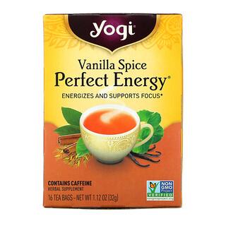 Yogi Tea, Perfect Energy, Vanilla Spice, 16 Tea Bags, 1.12 oz (32 g)