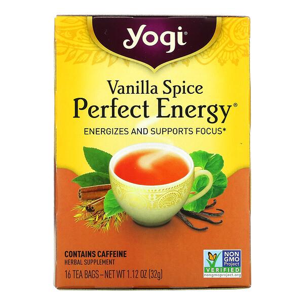 Perfect Energy, Vanilla Spice, 16 Tea Bags, 1.12 oz (32 g)