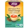 Yogi Tea, Vital Energy, Refreshing Mint, 16 Tea Bags, 1.27 oz (36 g)