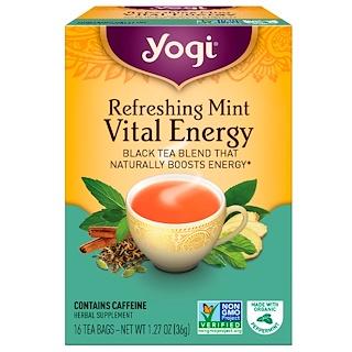 Yogi Tea, Vital Energy, Refreshing Mint, 16 Tea Bags, 1.27 oz (36 g)