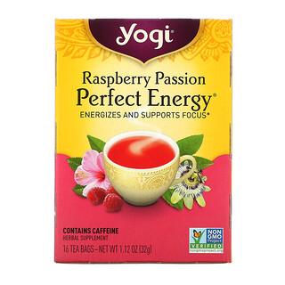 Yogi Tea, Perfect Energy, Raspberry Passion, 16 Tea Bags, 1.12 oz (32 g)