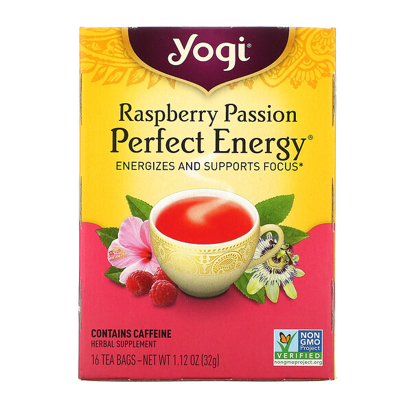 Perfect Energy, Raspberry Passion, 16 Tea Bags, 1.12 oz (32 g)
