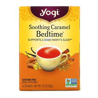 Yogi Tea, Soothing Caramel Bedtime(スージングキャラメルベッドタイム)、カフェインフリー、ティーバッグ16袋、30g(1.07オンス)