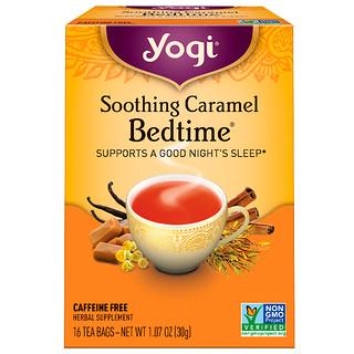 Yogi Tea, スムージングキャラメルベッドタイム、ノンカフェイン、16ティーバッグ、1.07オンス (30 g)