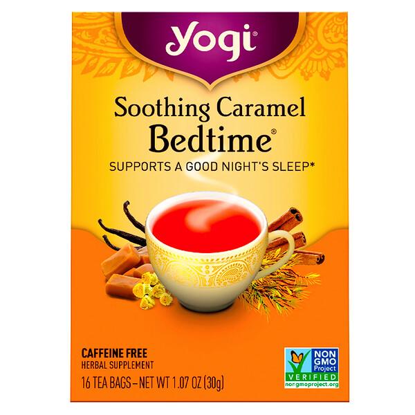 Soothing Caramel Bedtime, Caffeine Free, 16 Tea Bags, 1.07 oz (30 g)