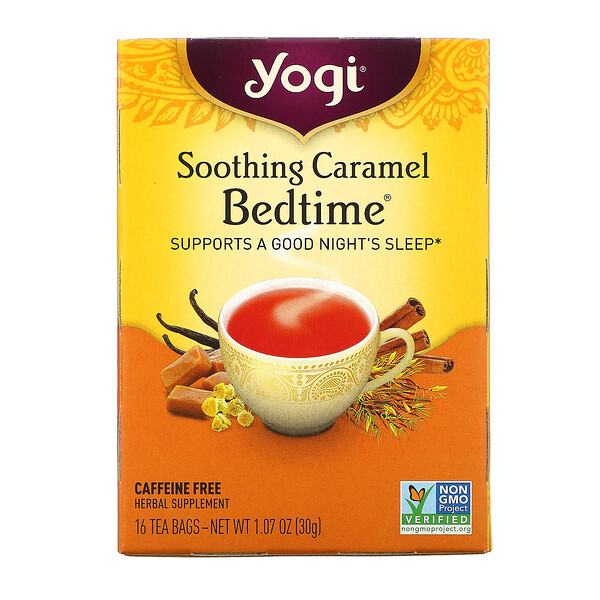 Bedtime, Soothing Caramel, Caffeine Free, 16 Tea Bags, 1.07 oz (30 g)