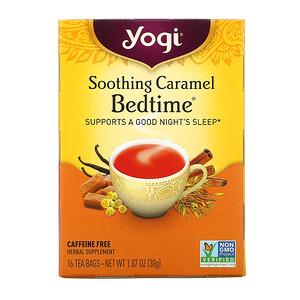 Йоги Ти, Bedtime, Soothing Caramel, Caffeine Free, 16 Tea Bags, 1.07 oz (30 g) отзывы покупателей