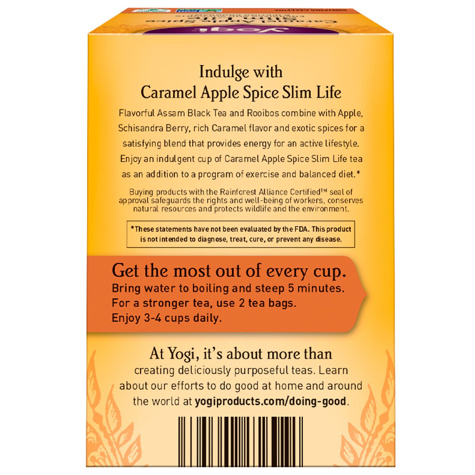 yogi tea slim life caramel apple