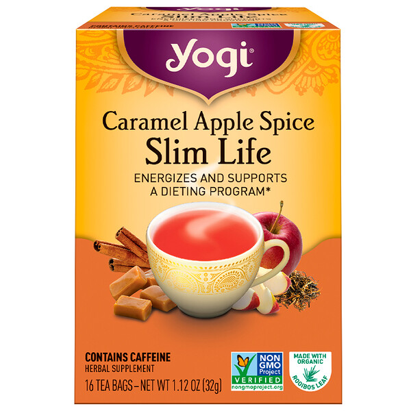 Slim Life, Caramel Apple Spice, 16 Tea Bags, 1.12 oz (32 g)