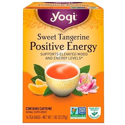 Купить Yogi Tea Positive Energy со вкусом сладкого мандарина, 16 чайных пакетиков, 1.02 унций (29 г)