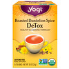 Yogi Tea, Roasted Dandelion Spice Detox, без кофеина, 16 чайных пакетиков, 0,85 унц. (24 г)
