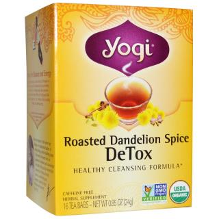 Yogi Tea, Roasted Dandelion Spice Detox, 16 Tea Bags, 0.85 oz (24 g)
