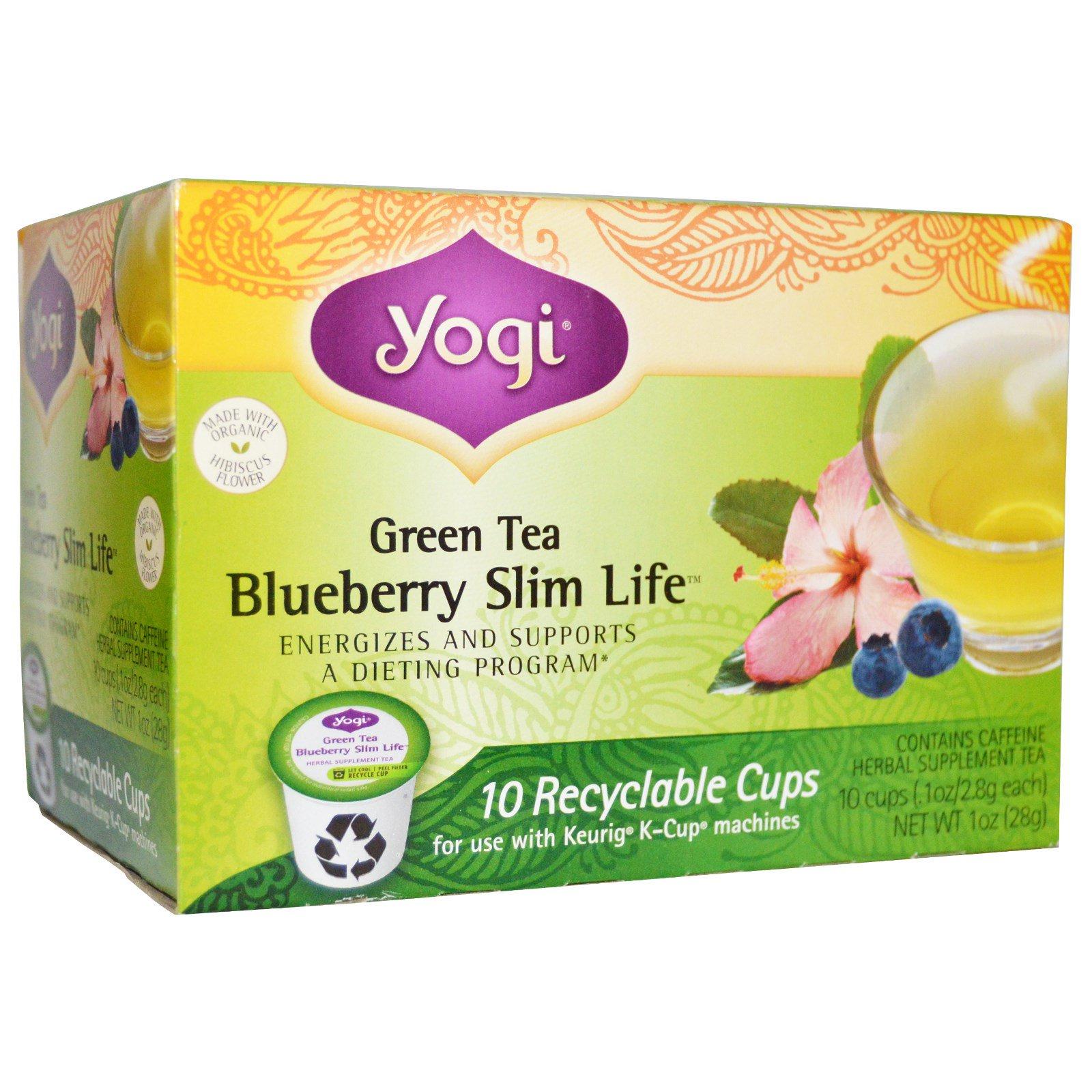 Yogi Tea, Blueberry Slim Life, Green