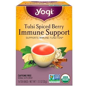 Йоги Ти, Tulsi Spiced Berry Immune Support, 16 Tea Bags, 1.12 oz (32 g) отзывы