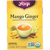Yogi Tea, オーガニック、マンゴージンジャー、カフェインフリー、ティーバッグ16包、1.12オンス(32 g)