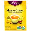 Yogi Tea, Organic Mango Ginger, Sem Cafeína, 16 Saquinhos de Chá, 32 g (1,12 oz)