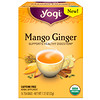 Yogi Tea, 망고 진저, 무카페인, 티백 16 개, 1.12 oz (32 g)