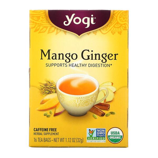 Mango Ginger, Caffeine Free, 16 Tea Bags, 1.12 oz (32 g)