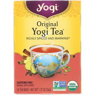 Yogi Tea, オリジナル、カフェインフリー、16ティーバッグ、1.27オンス (36 g)