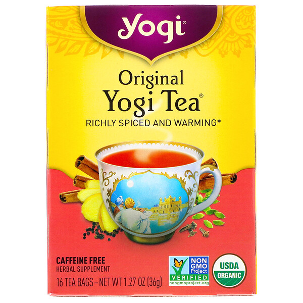 Yogi Tea, Original, Caffeine Free, 16 Tea Bags, 1.27 oz (36 g)