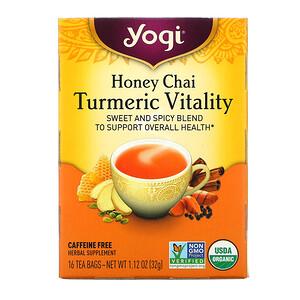 Йоги Ти, Turmeric Vitality, Honey Chai, 16 Tea Bags, 1.12 oz (32 g) отзывы покупателей