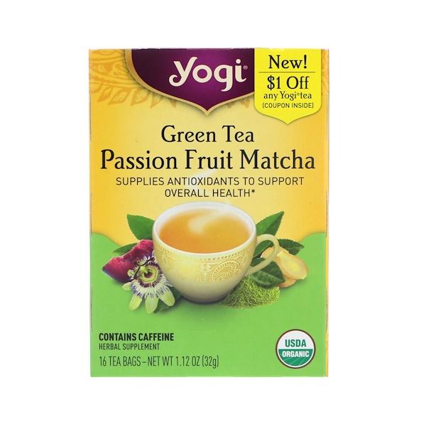 Yogi Tea, 綠茶,激情水果抹茶,16 袋茶包,1、12 盎司(32 克)