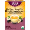 Yogi Tea, Digestive Awakening, Blackberry Apple Cider, Caffeine Free, 16 Tea Bags, 1.02 oz (29 g)