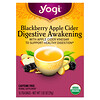 Yogi Tea, Digestive Awakening, Blackberry Apple Cider, Caffeine Free, 16 Tea Bags, 1.02 oz (29 g)