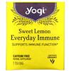 Yogi Tea, Sweet Lemon Everyday Immune, Caffeine Free, 16 Tea Bags, 1.12 oz (32 g) Each