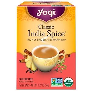 Йоги Ти, Classic India Spice, Caffeine Free, 16 Tea Bags, 1.27 oz (36 g) отзывы покупателей