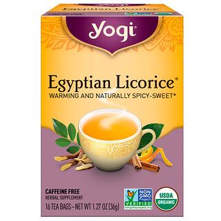 Yogi Tea, Egyptian Licorice, без кофеина, 16чайных пакетиков, 36г