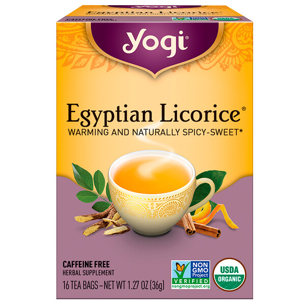 Egyptian Licorice, Caffeine Free, 16 Tea Bags, 1.27 oz (36 g)