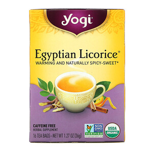 Йоги Ти, Egyptian Licorice, Caffeine Free, 16 Tea Bags, 1.27 oz (36 g) отзывы покупателей