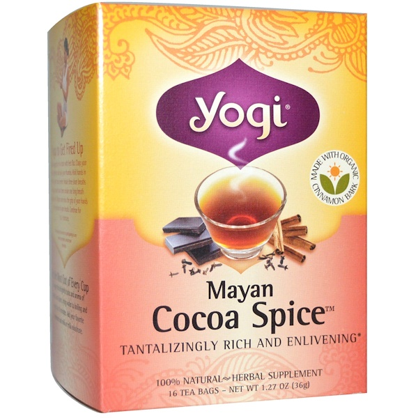Yogi Tea, Mayan Cocoa Spice, 16 Tea Bags, 1.27 oz (36 g) (Discontinued Item)