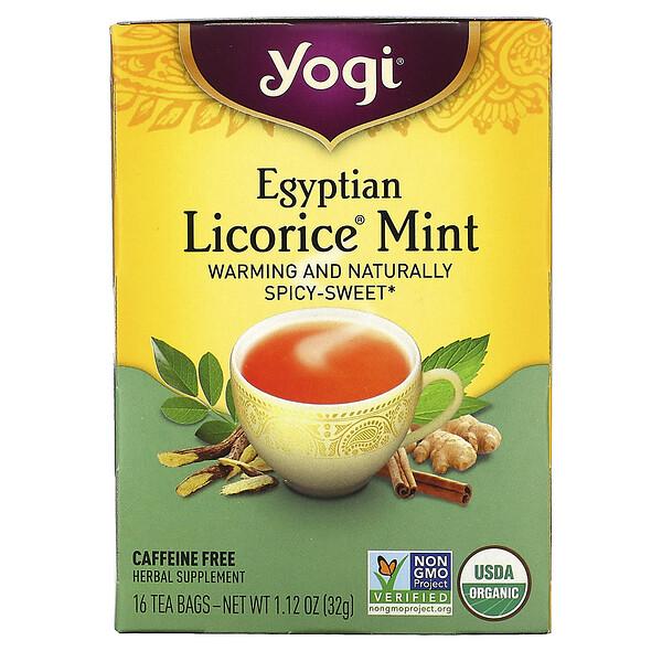 Egyptian Licorice Mint, Caffeine Free, 16 Tea Bags, 1.12 oz (32 g)