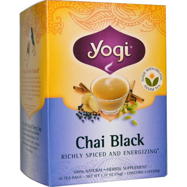 Yogi Tea, Chai Black, Caffeine, 16 Tea Bags, 1.27 oz (36 g)